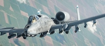 An A-10 Thunderbolt II departs after receiving fuel from a 340th Expeditionary Air Refueling Squadron KC-135 Stratotanker during a flight in support of Operation Inherent Resolve April 19, 2017. The 340th EARS, part of U.S. Air Forces Central Command, is responsible for delivering fuel for U.S. and coalition forces, enabling a persistent 24/7 presence in the area of responsibility. (U.S. Air Force photo/Senior Airman Trevor T. McBride)