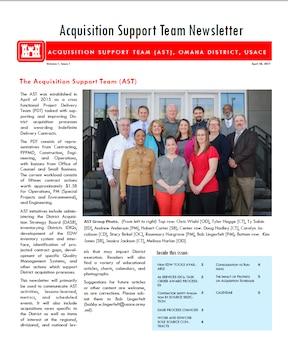 Acquisition Support Team Newsletter, Volume 1, Issue 1