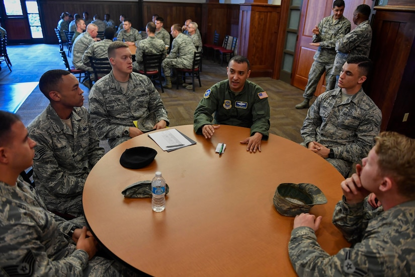 Members of Team Charleston are mentored during a Round Robin Mentorship event hosted by the Top 3 and 5/6 Associations at the Charleston Club, April 27, 2017. The 5/6 assists NCOs to improve their work center by providing professional development opportunities and networking with leadership and other base organizations. The Top 3 Association's vision is to help senior enlisted members lead the way and make a difference for Team Charleston.