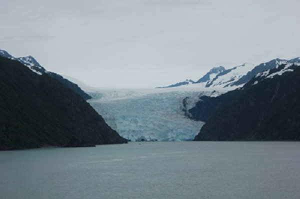 A view of the Holgate Arm Glacier.