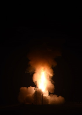 Minuteman III operational test launch from Vandenberg Air Force Base, Calif. on Aug 2, 2017.
