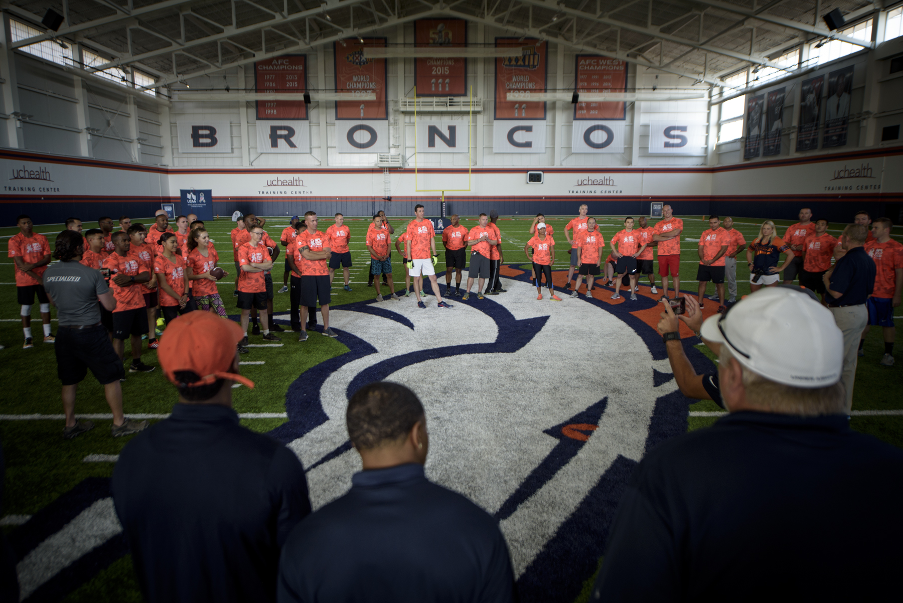 Team Pete competes at Bronco's NFL boot camp