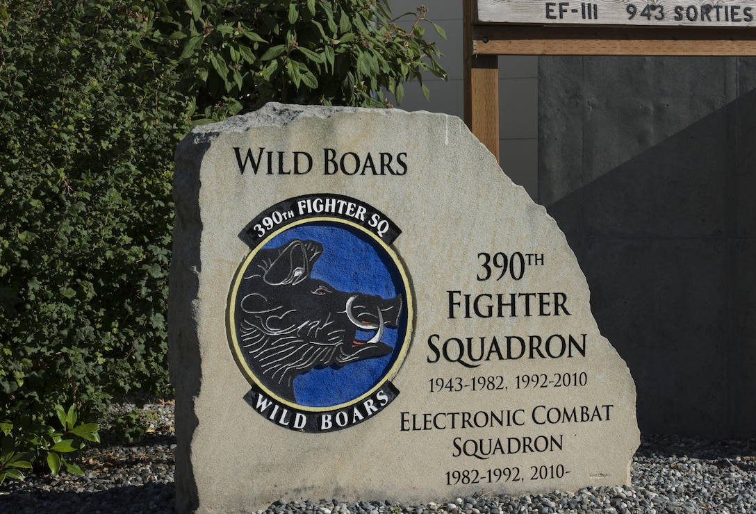 The 390th Electronic Combat Squadron is a tenant unit of the 366th Fighter WIng at Mountain Home Air Force Base, Idaho. The Fighter Squadron works out of Whidbey Island Naval Air Station, Wash., side by side with Navy electronic warfare. (U.S. Air Force photo by Senior Airman Jessica H. Smith/Released)