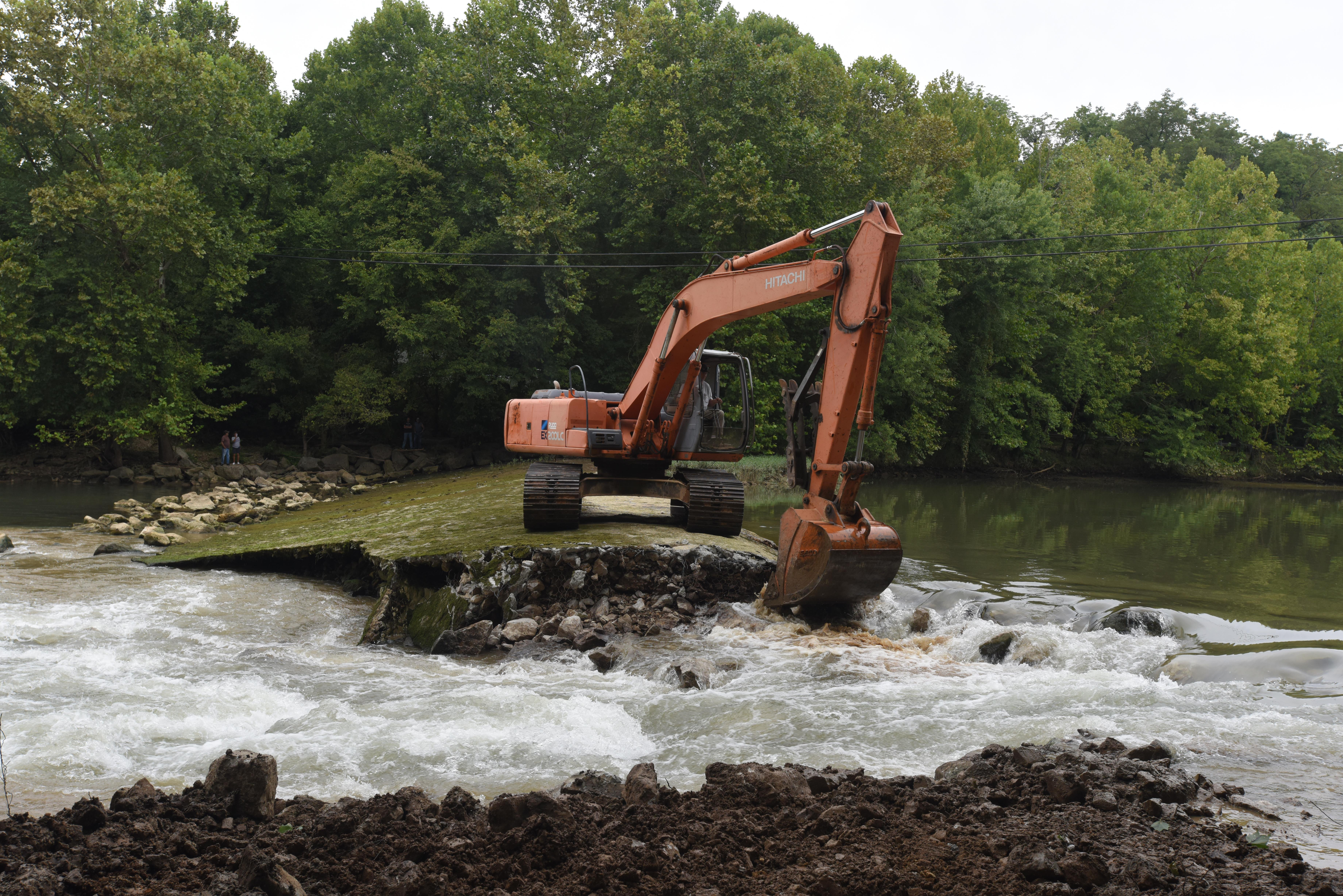 Stream restoration underway with roaring river dam removal for Roaring river fishing