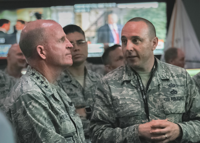 Gen. Wilson, AF Vice Chief of Staff visits the operations floor at Beale AFB