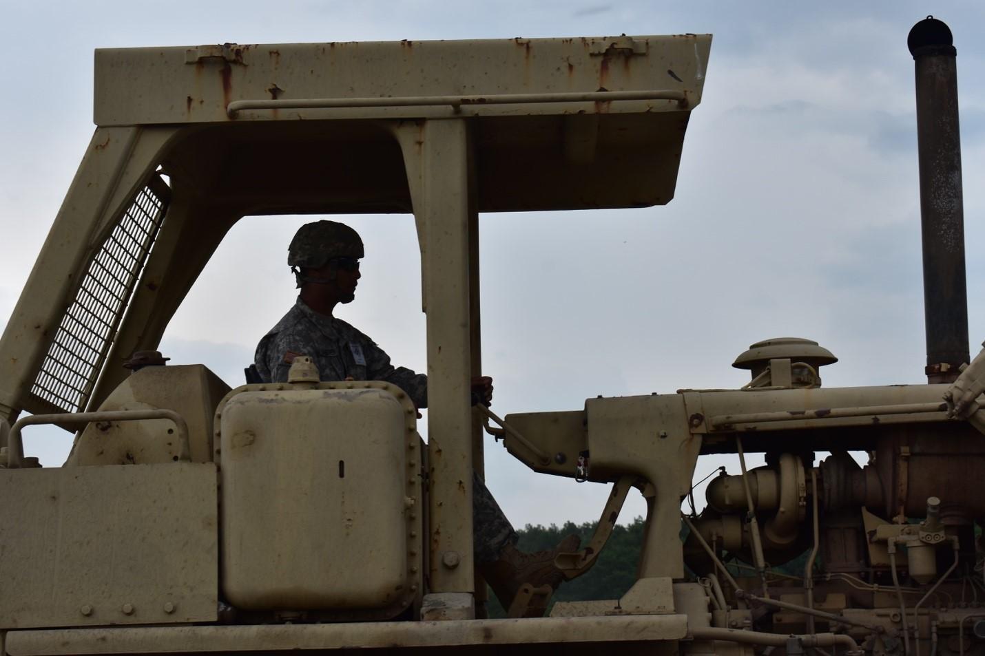 Resolute Castle 17 Soldier operates D7 Dozer
