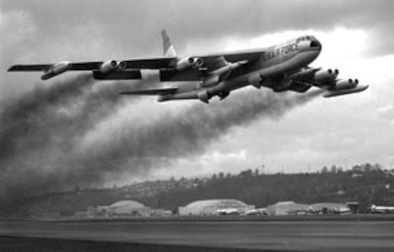 Operation CHROME DOME was a Cold War effort by the U.S. to keep B-52 Stratofortress strategic bomber aircraft armed with nuclear weapons and to remain on constant airborne alert. The bombers flew routes near the Soviet Union border and were refueled by KC-135 Stratotankers.