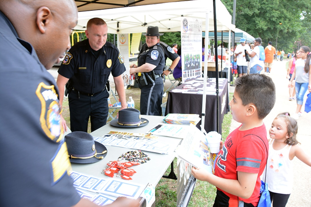 DLA police talk about safety to children