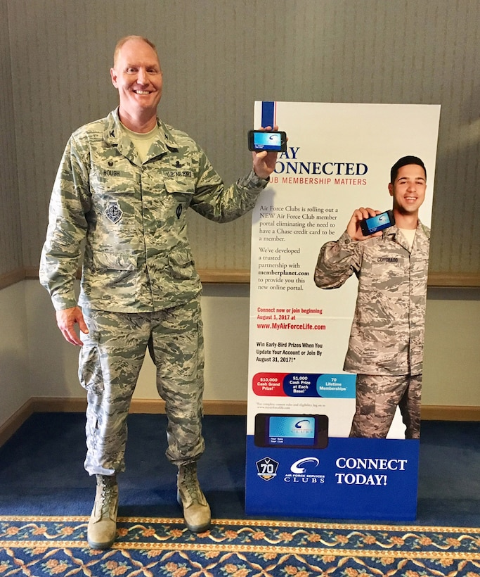 The 30th Space Wing Commander, Col. Michael Hough, was the first Club Member to transition to the new Member Planet Club Card system.