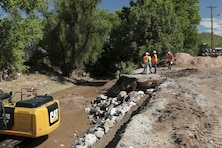 Under Public Law 84-99, the Flood Control and Coastal Emergency Act, the Corps of Engineers may provide assistance to communities to save human life, prevent immediate human suffering or mitigate public property damage. An imminent threat of unusual flooding must exist and a state must request Corps assistance. Arizona Gov. Douglas Ducey requested Corps assistance July 27.