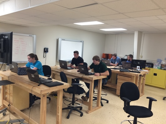 NSWC Crane's Expeditionary Warfare Department has implemented an Advanced Prototyping course at Crane's Rapid Innovation and Prototype (RIPL) Laboratory. The course provides interns with hands-on training in 3D printing, Kydex fabrication, welding, machining, sewing, wood construction and basic electrical connections.