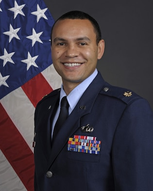 U.S. Air Force Maj. Anthony George, 325th Comptroller Squadron commander.