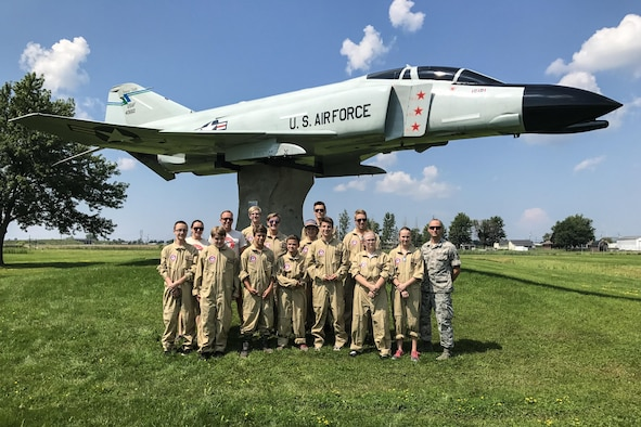 Members from the Western New York Aviation Adventure Camp visit Niagara Falls Air Reserve Station Tuesday August 1, 2017. This aviation camp is a week-long overnight for 9th and 10th grade students who are interested in aviation careers. (Courtesy photo)