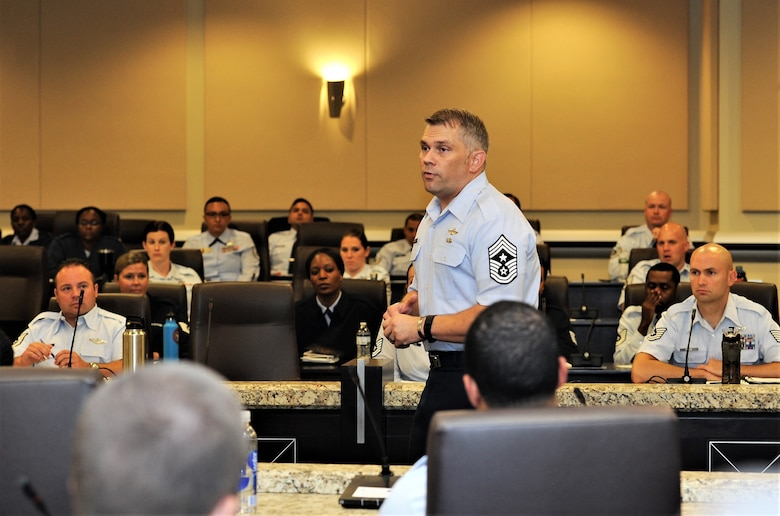 AFDW Command Chief speaks to new SNCOs