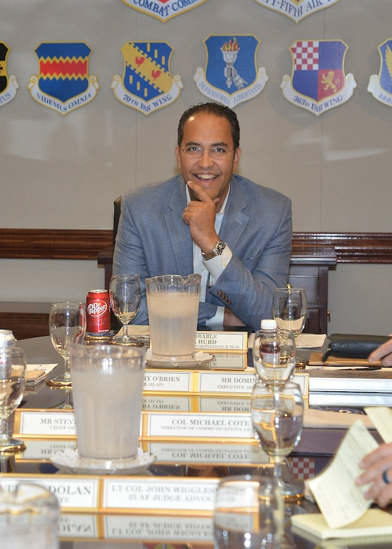 Congressman Will Hurd, 23rd District of Texas, visited 25th Air Force headquarters Aug. 4, 2017.