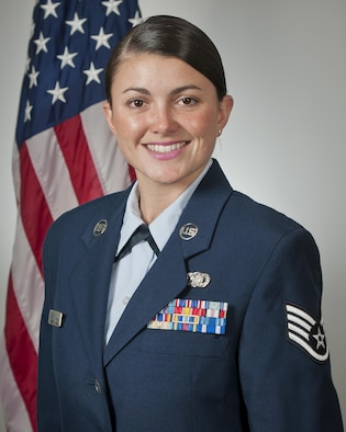 Staff Sgt. Lacey Miller, the Air National Guard's 2016 Outstanding Airman of the Year, poses for a photo at Joint Base Andrews, Md., May 31, 2017. Miller is assigned to the 290th Joint Communications Support Squadron, Florida ANG, and was chosen for the honor among all junior enlisted Airmen in the Air National Guard. (U.S. Air National Guard photo/Master Sgt. Marvin Preston)