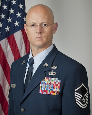 Master Sgt. Thomas DuMont, the Air National Guard's 2016 Outstanding Senior Noncommissioned Officer of the Year, poses for a photo at Joint Base Andrews, Md., May 31, 2017. DuMont is assigned to the 157th Air Operations Group, Missouri ANG, and was chosen for the honor among all Senior NCOs across the Air National Guard. (U.S. Air National Guard photo/Master Sgt. Marvin Preston)