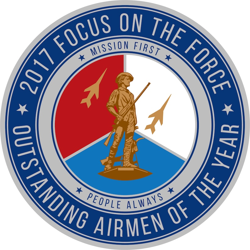 Official seal for the Air National Guard's 2017 Focus on the Force Week, a week-long event celebrating the contributions and excellence of the ANG enlisted corps.