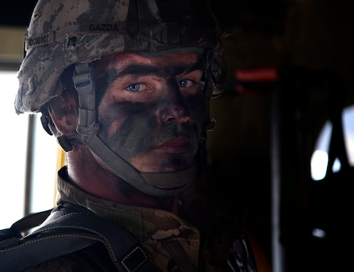 Up close shot of 82nd Airborne Division soldier