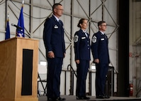 Chief Master Sgt. Zona Hornstra assumed the duties and responsibilities as the Command Chief of the 114th Fighter Wing during a ceremony at Joe Foss Field, Aug. 5, 2017.