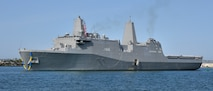 USS San Diego is the sixth ship in the San Antonio class of amphibious transport dock ships (LPD). San Diego is the fourth ship named after the Southern California city, but the first homeported there. She is currently the only U.S. Navy ship in the fleet homeported in her namesake city.
