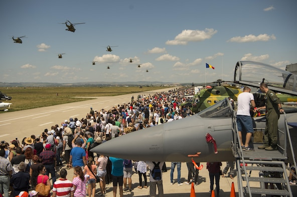 USAFE Airmen support Romanian air show