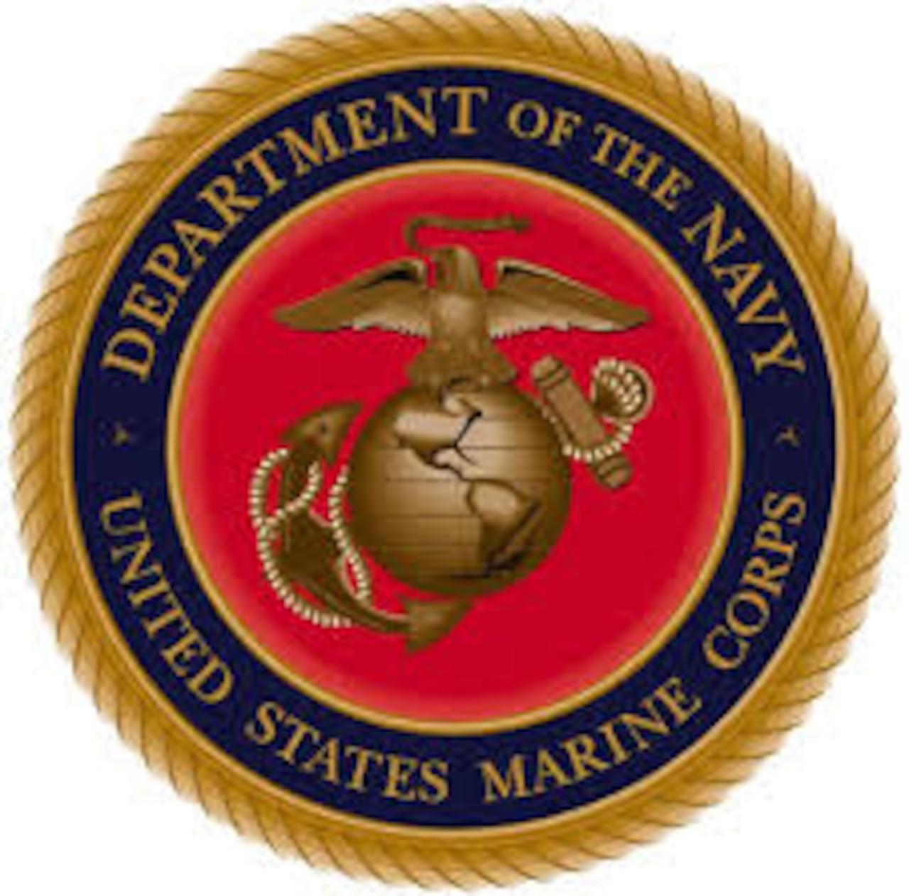 Marine Corps emblem.
