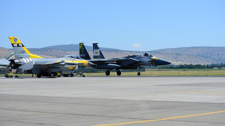 F-15 and F-16