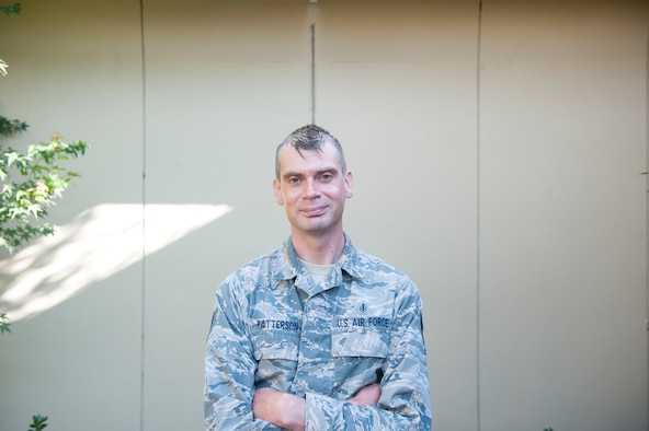 Staff Sgt. John Patterson, 9th Aerospace Medicine Squadron flight and operational medical technician, poses for a photo.