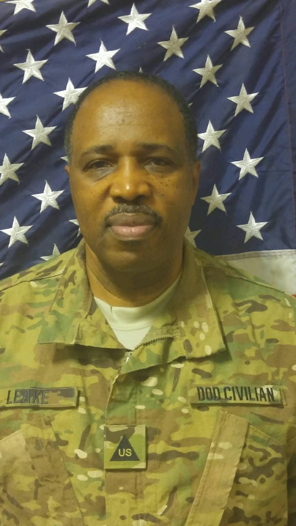 Harvey Leake, who is a quality assurance engineer at the Defense Contract Management Agency, deployed to Afghanistan from December 2015 to December 2016. During that time, he served as the Central Command's Combating Trafficking in Persons program manager. Leake ensured service members, civilians, indirect hires and contractor personnel supported and complied with the zero tolerance policy for human trafficking. (Photo courtesy of Harvey Leake)