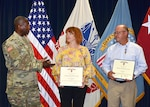 DLA director talks with award winners