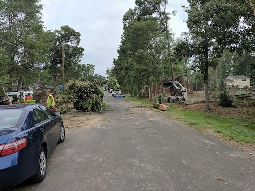 More than 9,000 homes and businesses on Kent Island were effected when an EF-2 tornado tore across Maryland's Eastern shore July 24, 2017. The tornado produced winds up to 125 mph and destroyed several homes, tore roofs from buildings and left thousands of people without power. (Courtesy photo)