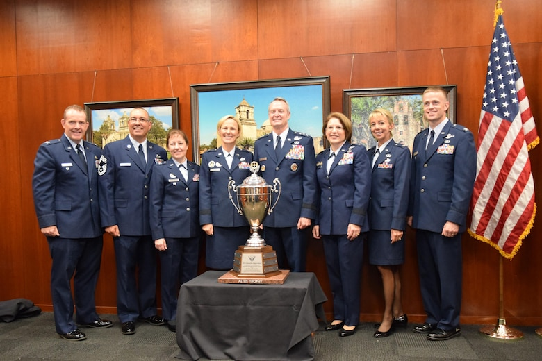 Maj. Gen. Mary O'Brien, commander 25 AF attends Altus Trophy Reception