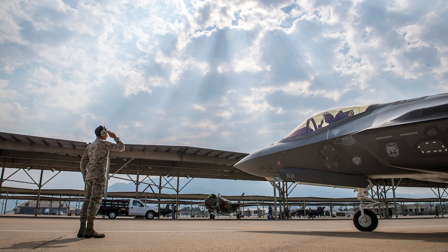 F-35As fly in weapons evaluation