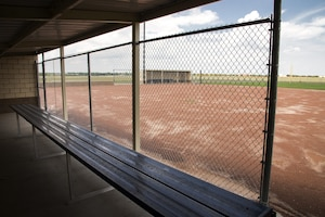 The dugout at the new softball field at Randolph High School August 8, 2017, at Joint Base San Antonio, Randolph, Texas.  A softball and baseball field have been built to support the Randolph HS athletics department.  (U.S. Air Force photo by Sean M. Worrell)
