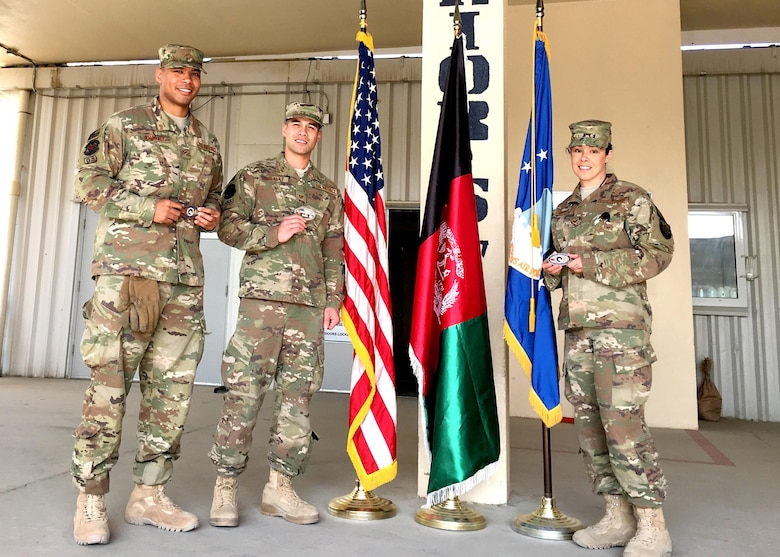 Three members from 446th ASTS in Bagram.