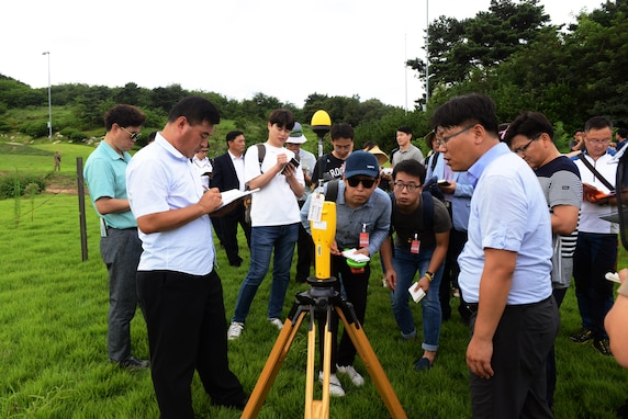 U.S. Forces Korea representatives and members of the Republic of Korea Ministry of Environment traveled to the Terminal High Altitude Area Defense (THAAD) location to conduct an environmental study at Seongju, Republic of Korea, Aug. 10, 2017.
