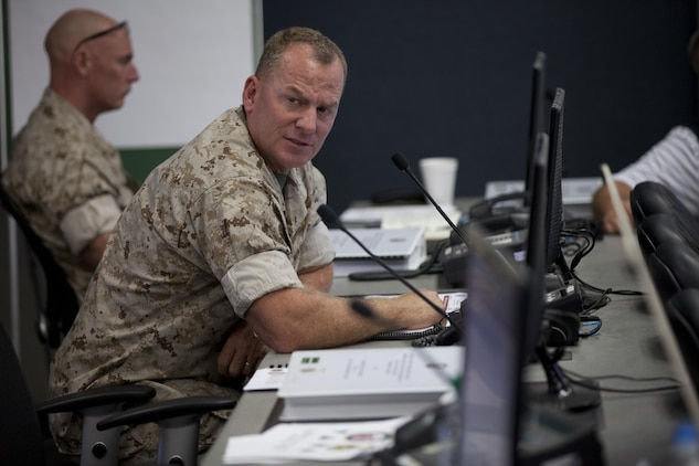 U.S. Marines, Sailors, and civilians with Marine Corps Installations West, participate in exercise Citadel Rumble 2016 on Camp Pendleton, Calif., August 3, 2016.
