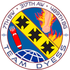 A shield which represents the different units of Team Dyess.