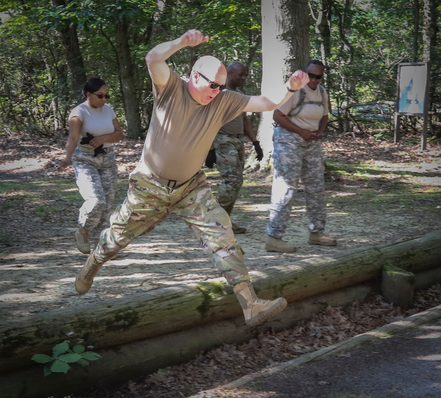 More than 100 Army Reserve Soldiers from headquarters and headquarters Company, 335th SC (T) based in East Point, Georgia recently spent nine days at the joint base conducting a variety of training exercises as part of the units annual training.