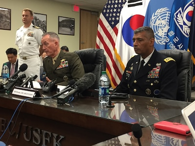 Dunford: U.S.-South Korean Alliance Ready to Defend Against North Korean Threat