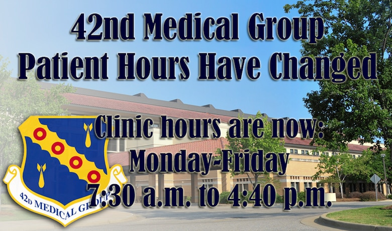 42nd Med Group Patient Hours Change