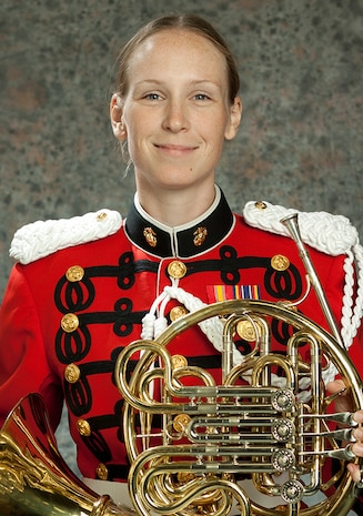 On Aug. 16-17, French horn player Staff Sgt. Cecelia Buettgen will make her solo debut with the Marine Band when she performs Richard Strauss's Horn Concerto No. 1 in E-flat, Opus 11. The concerts, conducted by Assistant Director Major Michelle Rakers, will take place at 8 p.m., Wednesday, Aug. 16 at the west terrace of the U.S. Capitol and 8 p.m., Thursday, Aug. 17 at the Sylvan Theater, on the Washington Monument grounds.