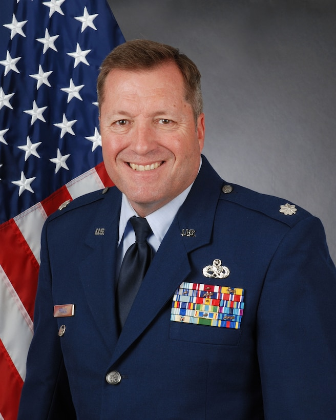 The official photo of Lt. Col. Alfred Proulx, 94th Maintenance Group deputy commander.