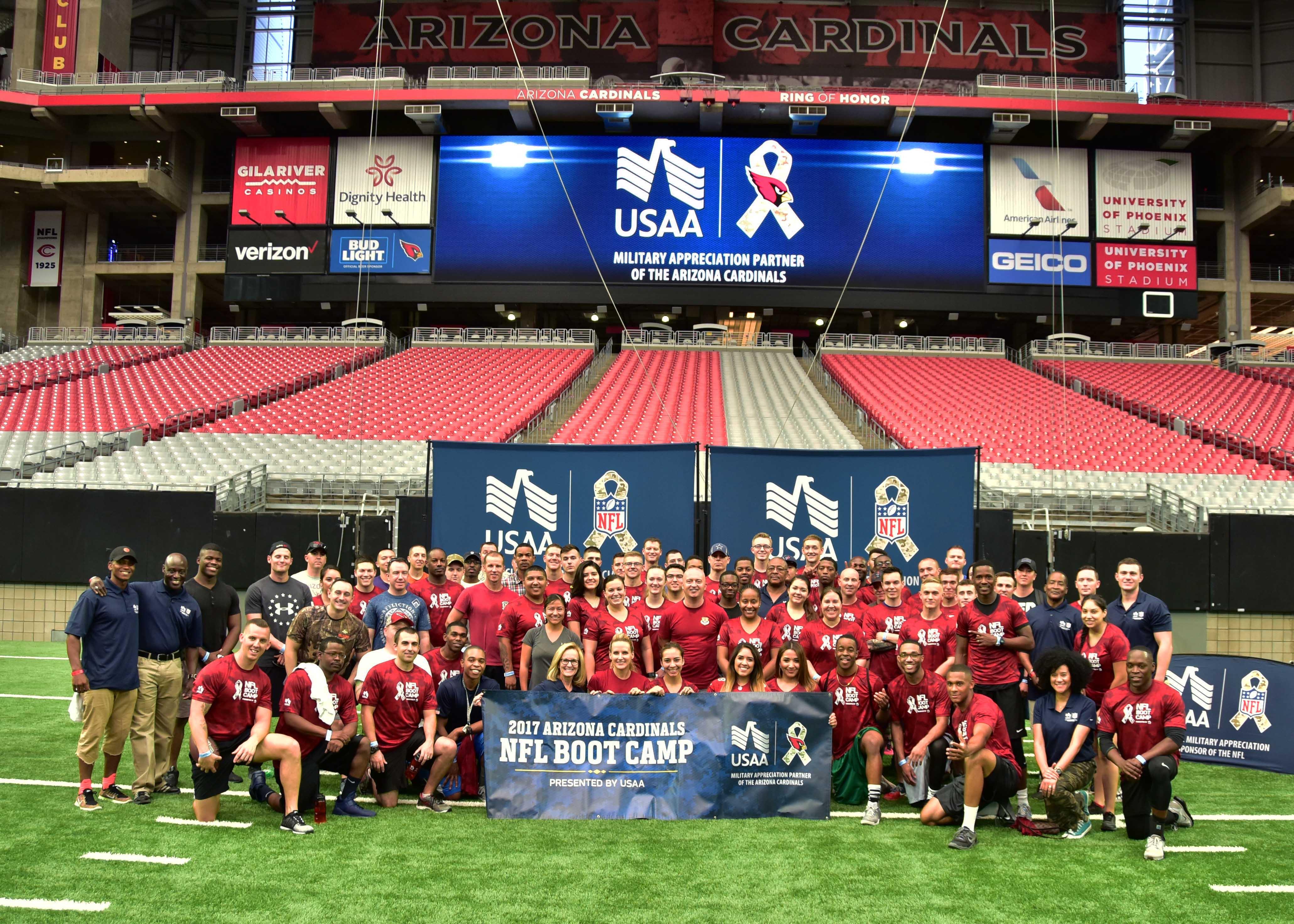 Luke Participates In Arizona Cardinals Boot Camp