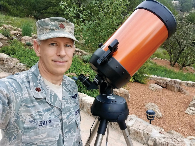 Airman prepares to watch the solar eclipse