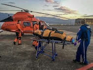 Photo of a Coast Guard medevac