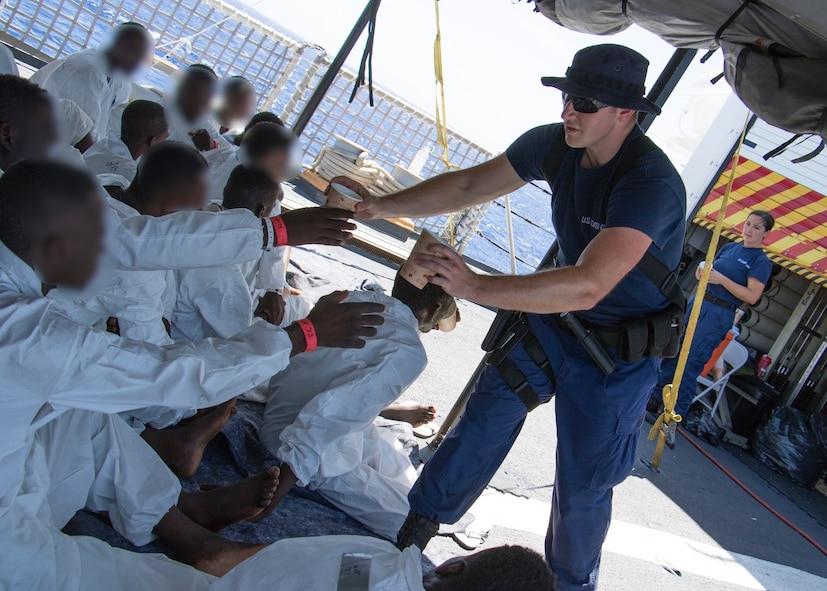 Photo of Coast Guard Cutter Seneca migrant interdiction operations