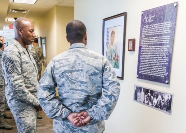 CMSAF Wright at OSI Hall of Heroes