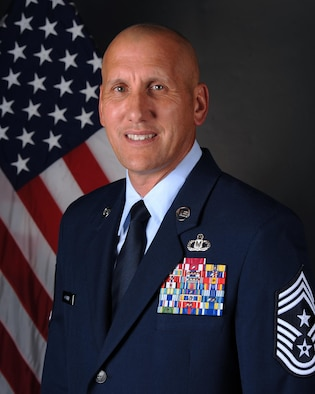 Chief Master Sgt. Kenneth R. Carter, 81st Training Wing command chief, Keesler Air Force Base, Miss.